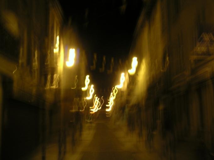 Bellac juillet 2005 070 flou la nuit