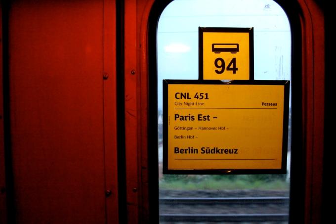 Numéro de wagon dans le train pour Berlin